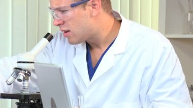 Male Student Doctor in Research Laboratory — Stock Video