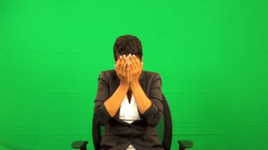 Ethnic Female Showing Disappointment Virtual Business Environment — Stock Video