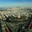 Aerial view of Place of Fine Arts, San Francisco, USA — Stock Video