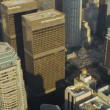 Stock Video: Aerial view of city skyscrapers Los Angeles, USA