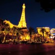 Night Time lapse Las Vegas Landmarks - Stock Photo
