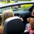 Beautiful Girls Driving on Vacation — Αρχείο Βίντεο #23702607
