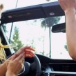 Stock Video: Girls in Sunglasses Driving Convertible
