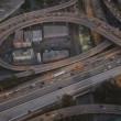 Aerial vertical view of traffic freeway, USA — Stock Video #23702853