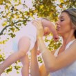 Loving Mother with her Baby Outdoors — Stock Video