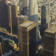 Aerial view of city skyscrapers Los Angeles, USA - Stock Photo