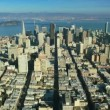 Aerial view of San Francisco and Bay area and Skyscrapers, USA — Stock Video