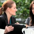 Businesswomen Seeing Successful Results - Stock Photo