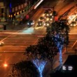 Time lapse Urban City Night Traffic - Stock Photo