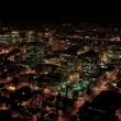 Aerial night illuminated cityscape, North America — Stock Video
