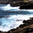 Rocky Shoreline Breaking Waves - Foto de Stock