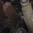 Aerial view at dusk of US Bank Tower, Los Angeles, USA — Stock Video #23704225