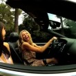 Girls Having Fun in Luxury Cabriolet — Stock Video #23704227