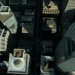 Aerial vertical view of rooftop skyscrapers, America — Stock Video