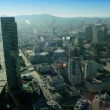 Aerial view of the skyscrapers and freeways, San Francisco,  USA - Stock Photo