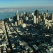 Aerial view of San Francisco and the Oakland Bay Bridge, USA — Stock Video