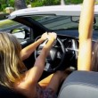 Blonde and Brunette Girls in Luxury Car — Stock Video #23704521