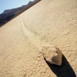 Death Valley Sailing Stones - Stock Photo