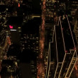 Aerial night illuminated view of a busy metropolis, USA — Stock Video