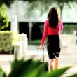 City Businesswoman Leaving for Airport — Stock Video