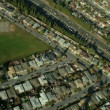 Aerial view of freeways in the suburbs of San Francisco, USA — Stock Video