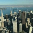 Aerial view of San Francisco and Oakland Bay Bridge, USA — Stock Video