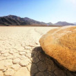 Stock Video: Trail From Death Valley Sailing Stones