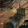 Time lapse Traffic Los Angeles Dusk - Stock Photo