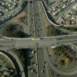 Aerial view of suburbtraffic on busy freeway — Stock Video #23705567