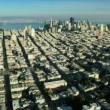 Aerial landscape view of the city of San Francisco, USA - Stock Photo