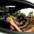 Pretty Girls Cruising Through Beverley Hills — Stock Video #23705991