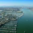 Aerial view of boat marina, San Francisco, USA — Stock Video