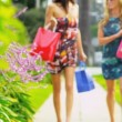 Beautiful Girls on a Shopping Day — Stock Video