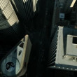 Aerial vertical view of skyscrapers, USA - Foto de Stock  