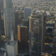 Stock Video: Aerial view of city heat haze, Los Angeles, USA