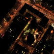 Aerial vertical view at night of city traffic, USA  — Stock Video