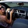 California Girls in Luxury Convertible — Stock Video
