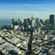 Aerial view of the Transamerica Pyramid building, San Francisco, USA — Stock Video