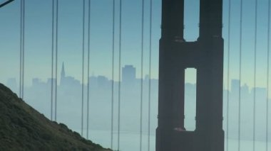 Distant View Golden Gate Bridge — Stok video
