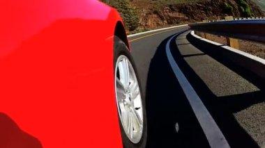 Luxury Cabriolet California Road Trip — Stock Video