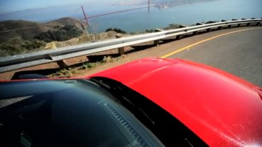 Driving Californian Winding Coast Road — Stock Video