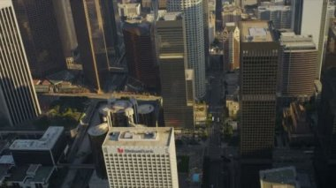 Aerial view of city buildings, Los Angeles, USA — Stock Video