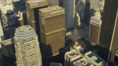 Aerial view of city skyscrapers Los Angeles, USA — Stock Video
