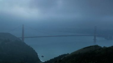 Cloudscape Time lapse San Francisco and Bridge — Stock Video