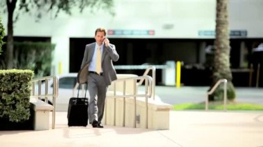 Businessman Leaving on Business Travel — Stock Video