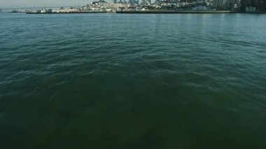 Aerial view over Fishermans Wharf, San Francisco, USA — Stock Video