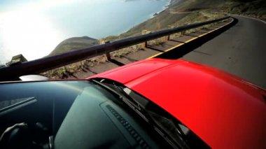 Vacation Driving California Coastline — Stock Video