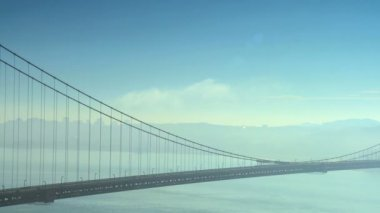Panorama San Francisco Bay and Bridge — Stok video