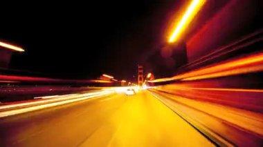 Čas zanikla pohledu jízdy most golden gate — Stock video