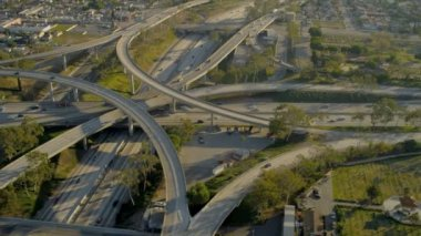 Aerial view of elevated road transportation system, USA — Stock Video